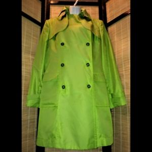 Jones wear XL lime green pea/trench coat